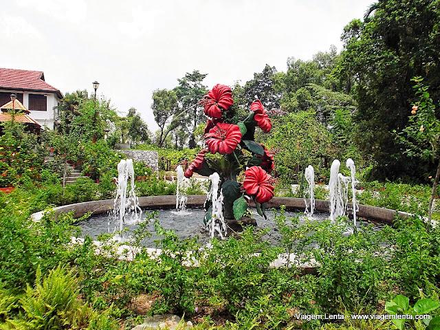 Jardim de hibiscus, símbolo da cidade de Kuala Lumpur