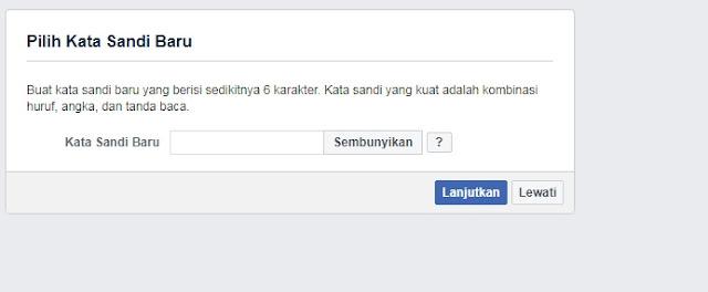 Masukan Kata Sandi Baru Facebook Kamu