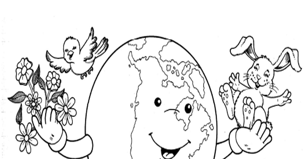 Pinto Dibujos Niños Del Planeta Para Colorear: Pinto Dibujos: Cuidar El Planeta Para Colorear
