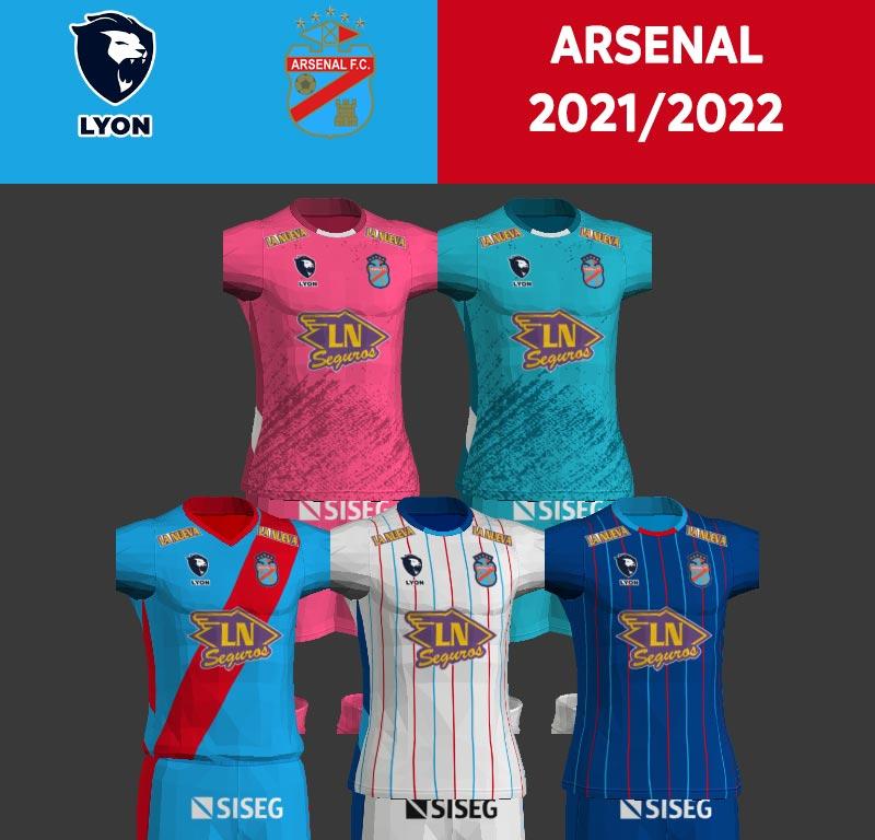 NEW Arsenal de Sarandí 2021-2022 Kits For PES 2013