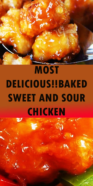 MOST DELICIOUS!!BAKED SWEET AND SOUR CHICKEN