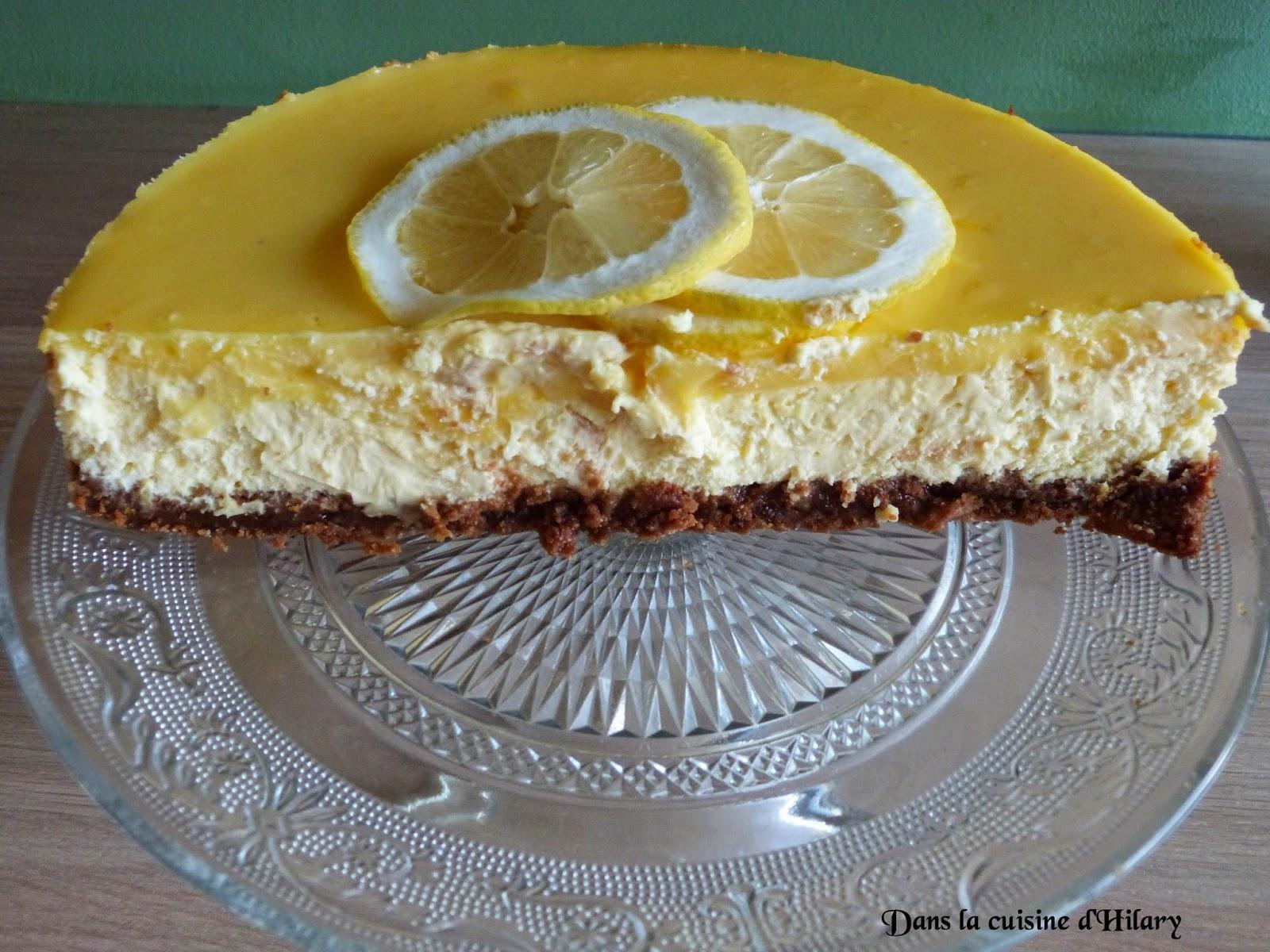 Cheesecake New-Yorkais au citron et son miroir au lemon curd