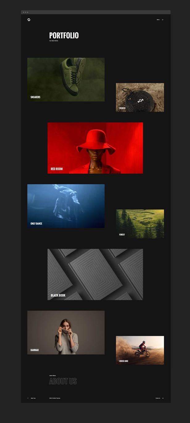 Hervin  Creative Ajax Portfolio Showcase Slider Theme