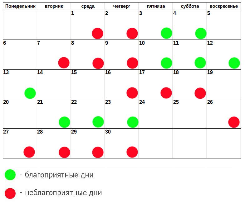 лунный календарь стрижек ноябрь 2017