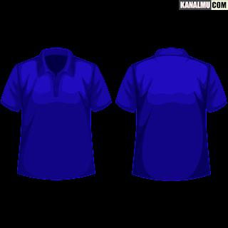 polo.pngmentahan kaos polos biru depang belakang polo PNG - kanalmu