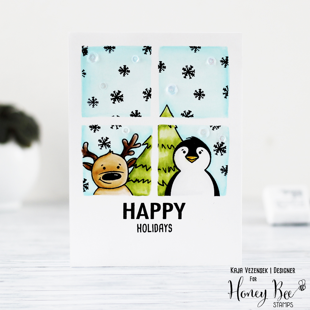 One layer watercolor card | HONEY BEE