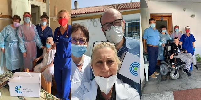 Το ΚΥ Λιτοχωρου στις 4/8/2021 ξεκίνησε τους εμβολιασμούς των πολιτών κατ' οίκον