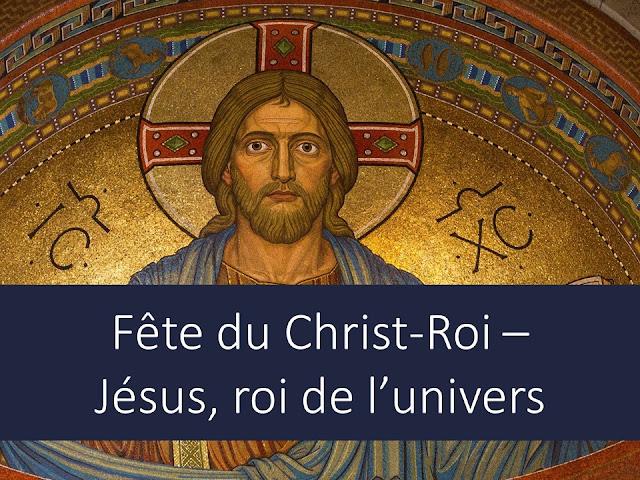 Jésus, roi de l'Univers, christ roi