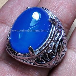 Cincin Batu Blue Chalcedony - ZP 670