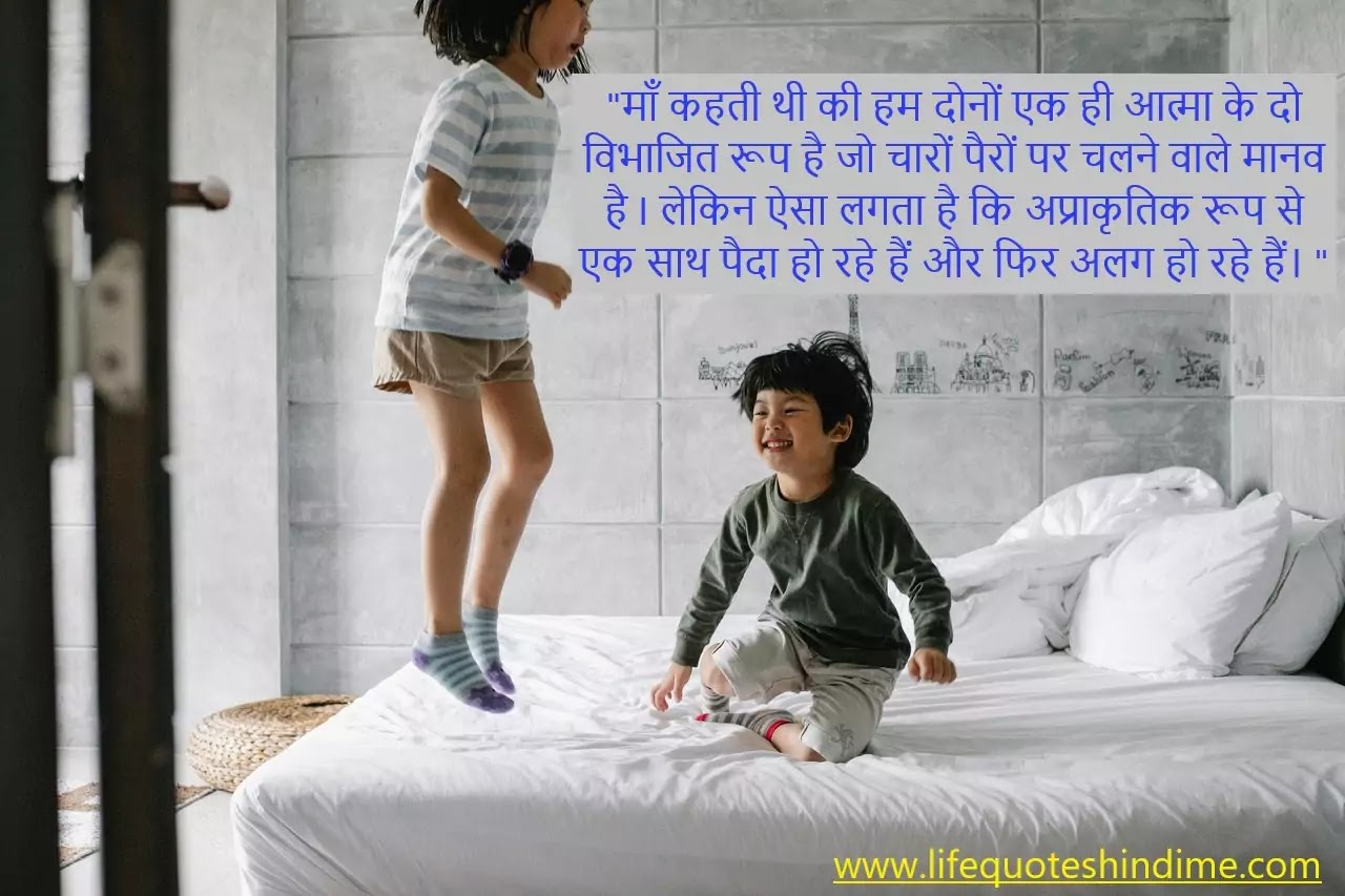 Brothers Day Quotes In Hindi (भाई दिवस पर कथन )