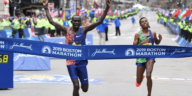 Cherono vence la Maratón de Bostón 2019 en sprint final