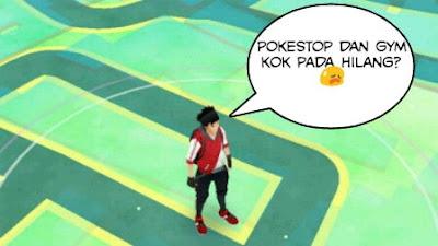 Pokestop dan Gym Hilang Saat Bermain Pokemon Go