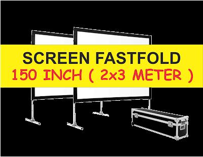 Sewa Rental Screen dan Layar Fastfold 2x3 meter Murah Berkualitas Surabaya
