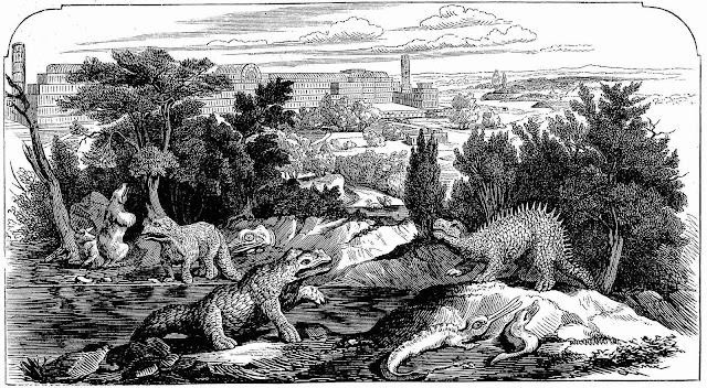 1864 new Crystal Palace dinosaur display