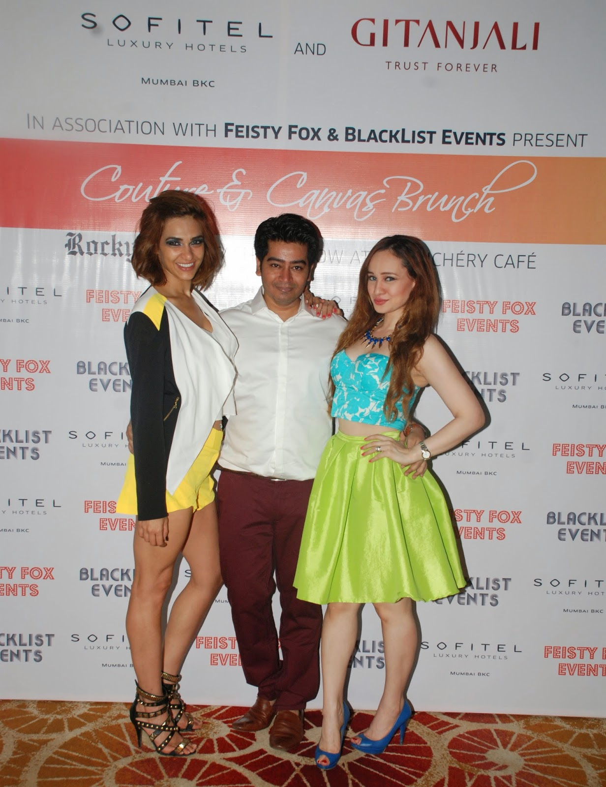 Designer Harsh Gupta, Atiya Goni & Stephanie Timmins at Couture & Canvas Brunch at Sofitel,BKC