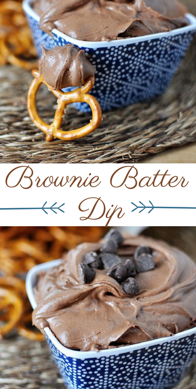 BROWNIE BATTER DIP #brownies #dessert
