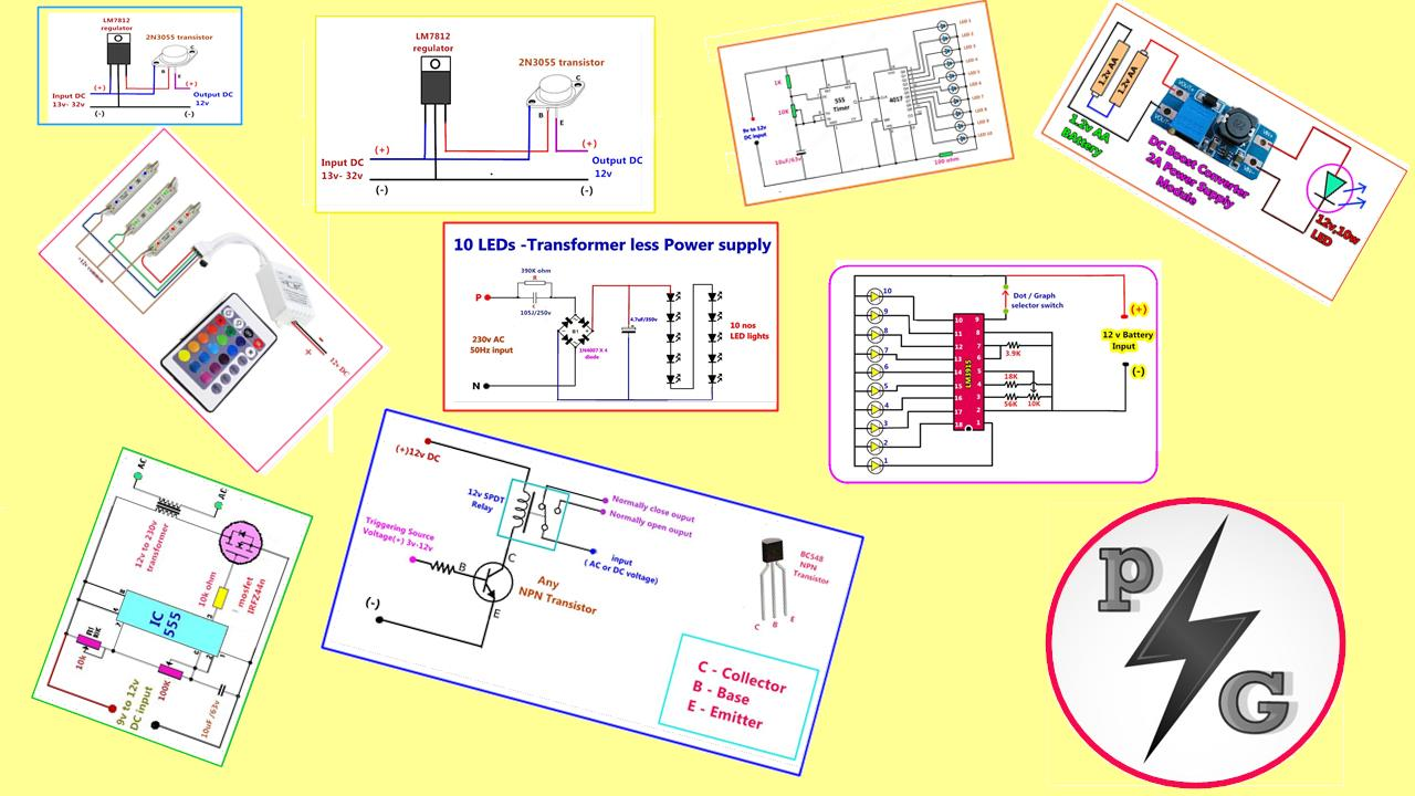 Power Gen Circuit Diagram List Part 2 Ic 555 Pin