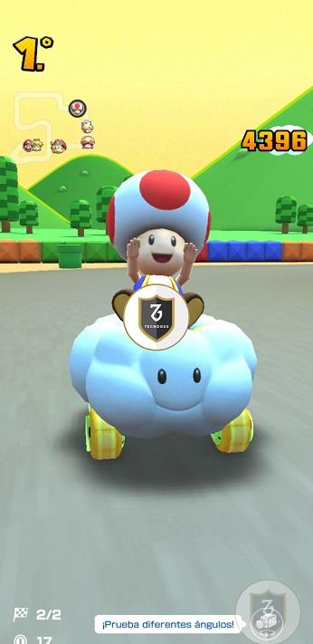 Captura Mario Kart en el Redmi Note 9s