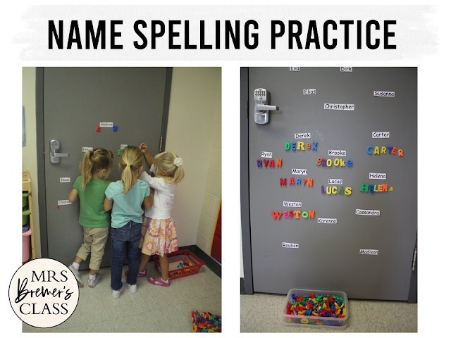 Fun ideas and teaching tips to help students learn and practice name recognition and name writing in Kindergarten!