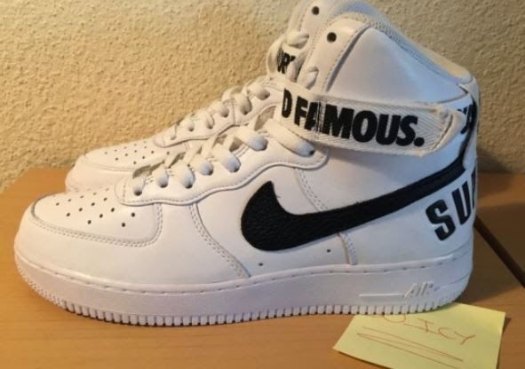 """los angeles 26e12 aa846 Here is a look at pairs of the upcoming Supreme x Nike Air Force 1 High """"20th  Anniversary"""" Sneaker spotted early on ebay HERE, no release yet but should  be ..."""