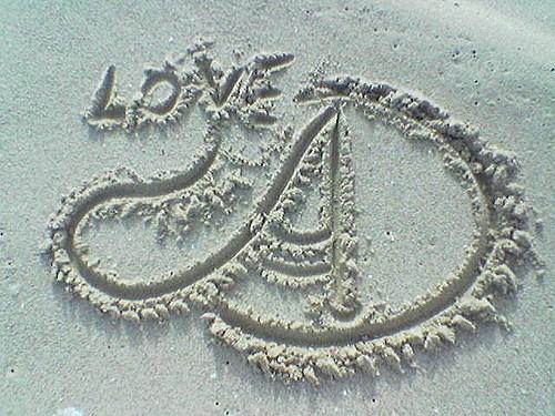 قلوب حب مع حرف a
