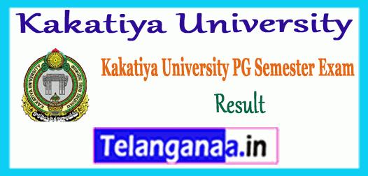 Kakatiya University PG All Courses  Exam Results