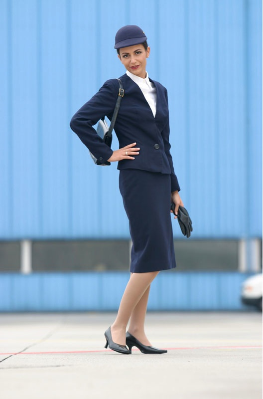 Lufthansa Flight Attendant Uniform History  World -6784