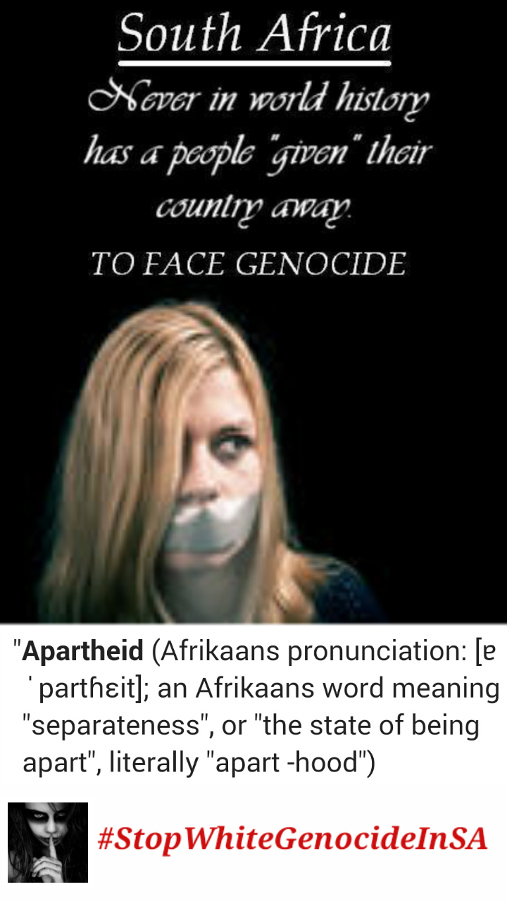 Describing any positive aspects of 'APARTHEID' can land South Africans in jail under new 'hatecrimes law'...
