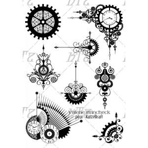 Le blog de Lacigale: Carte Steampunk Express