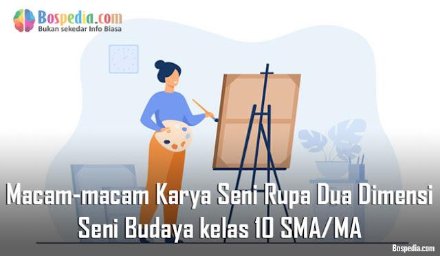 Materi Macam-macam Karya Seni Rupa Dua Dimensi Mapel Seni Budaya kelas 10 SMA/MA