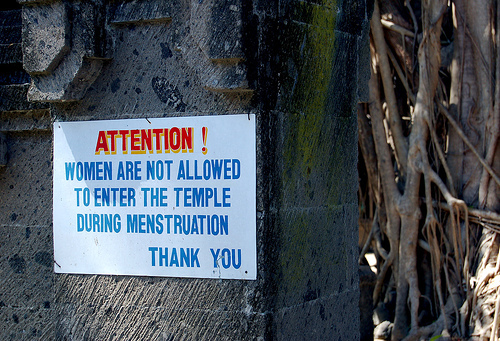 Image result for women not allowed to enter temple whilst menstruating