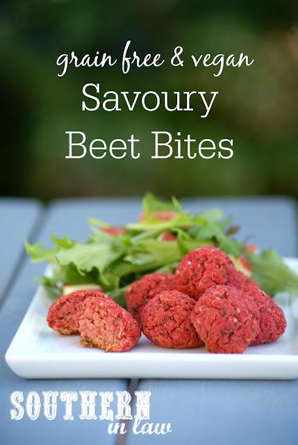 Healthy Savoury Beet Bites Recipe - meatless meatballs, beet balls, gluten free, vegan, grain free, egg free, dairy free, sugar free, low fat, low calorie, clean eating recipe
