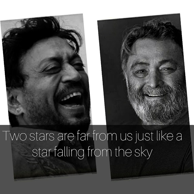 Two stars are far from us just like a star falling from the sky