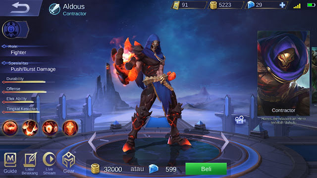 Fighter Terkuat di Mobile Legends Season 11 Aldous
