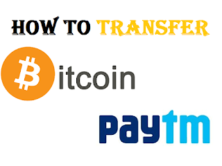Transfer Bitcoin to Paytm