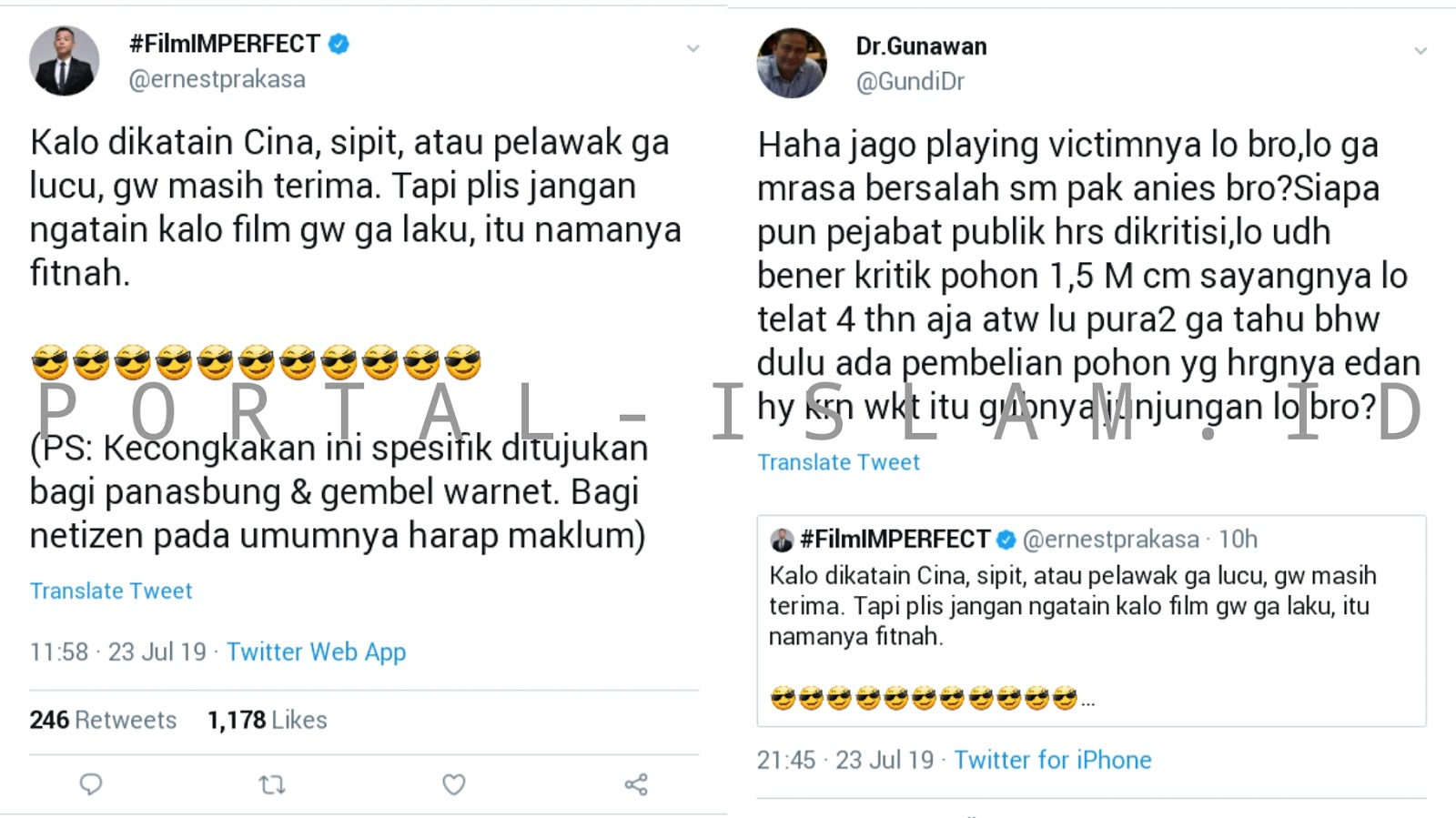 Tak Minta Maaf Malah Merasa Jumawa Kritik Anies Ernest