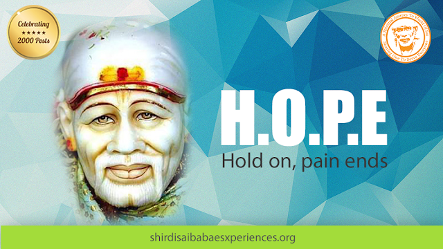 Baba Life Is Penetrating With Problems - Anonymous Sai Devotee