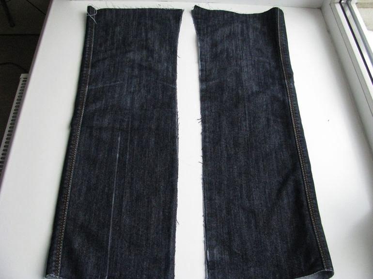 Сумка из старых джинсов. Bag of old jeans DIY tutorial.