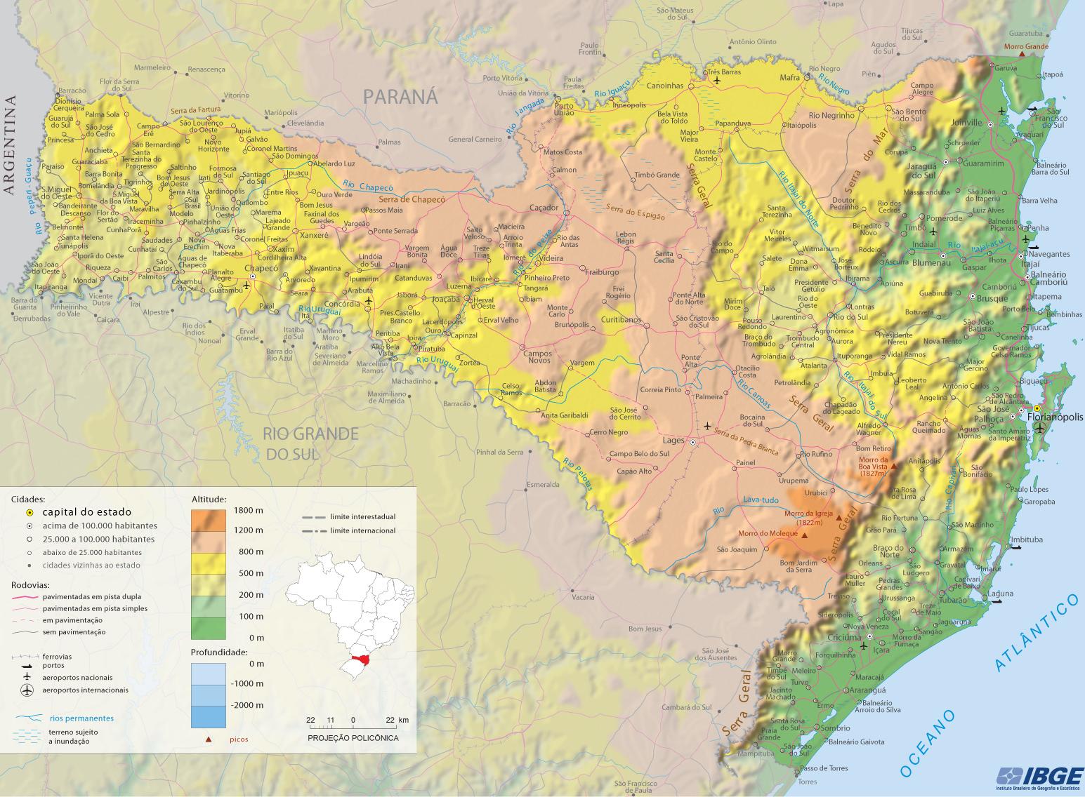 Geografia de Santa Catarina | Aspectos Geográficos