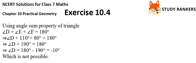 NCERT Solutions for Class 7 Maths Ch 10 Practical Geometry Exercise 10.4 3
