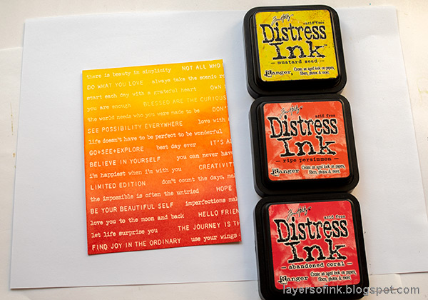 Layers of ink - Inky Ombre Card Tutorial by Anna-Karin Evaldsson. Ink with Distress Ink.