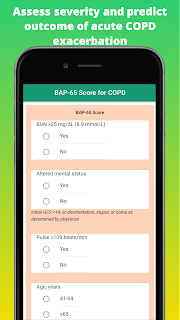 Assess severity and predict outcome of acute COPD exacerbation