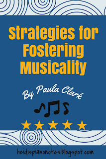Teaching Musicality, Piano Practice Tips