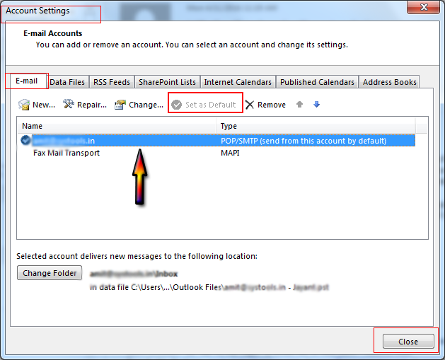 Fixed Outlook Data File Cannot be Accessed Reported Error