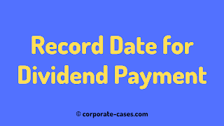 record date for dividend payment