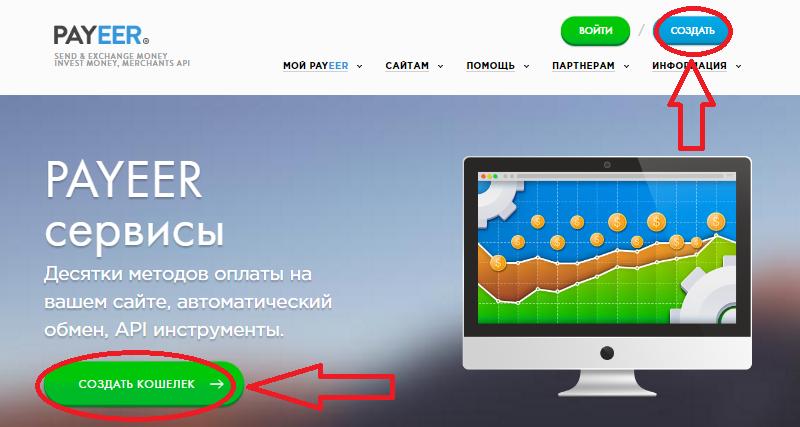 Регистрация Payeer