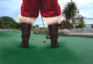 Father Christmas at Hastings Adventure Golf