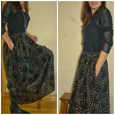 c6c6e422e Maxi falda ~ Moda en la Costura
