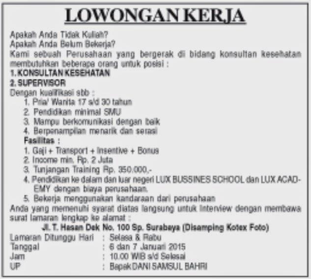 Lowongan Kerja Aceh Februari 2013 Terbaru Berita Lowongan Kerja Terbaru Agustus 2016 Info Bumn Kerja Aceh Konsultan Kesehatan Lowongan Kerja Aceh Terbaru 2015