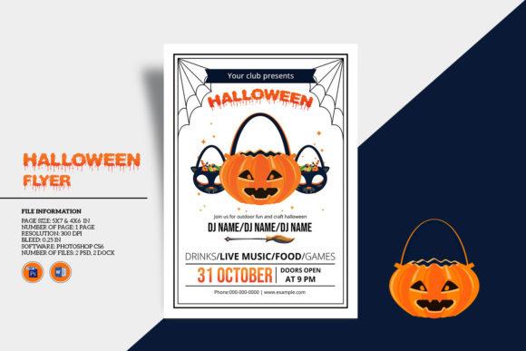 Halloween Invitation Flyer Template[Photoshop][6047213]